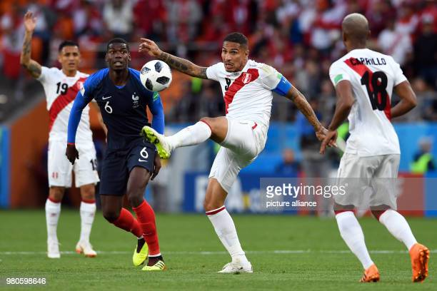 21 June 2018 Russia Yekaterinburg Soccer World Cup 2018 France vs Peru Preliminary round group C Second game day at the Yekaterinburg arena Paolo...