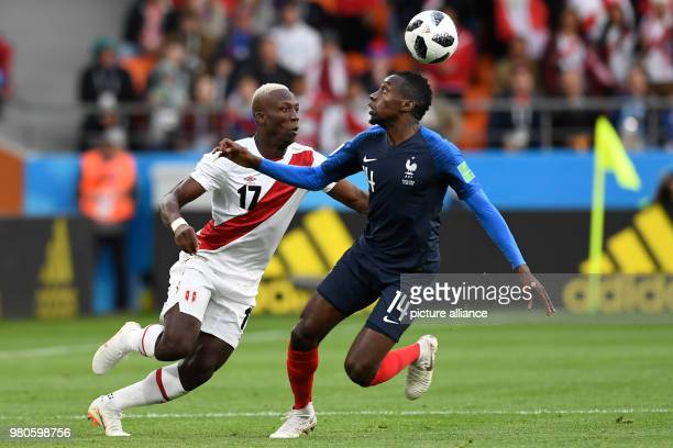 21 June 2018 Russia Yekaterinburg Soccer World Cup 2018 France vs Peru Preliminary round group C Second game day at the Yekaterinburg arena Blaise...