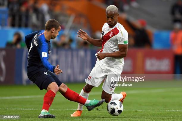 21 June 2018 Russia Yekaterinburg Soccer World Cup 2018 France vs Peru Preliminary round group C Second game day at the Yekaterinburg arena Antoine...