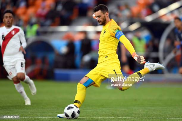 21 June 2018 Russia Yekaterinburg Soccer World Cup 2018 France vs Peru Preliminary round group C Second game day at the Yekaterinburg arena Hugo...