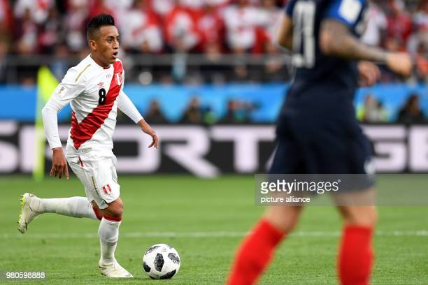 21 June 2018 Russia Yekaterinburg Soccer World Cup 2018 France vs Peru Preliminary round group C Second game day at the Yekaterinburg arena Christian...