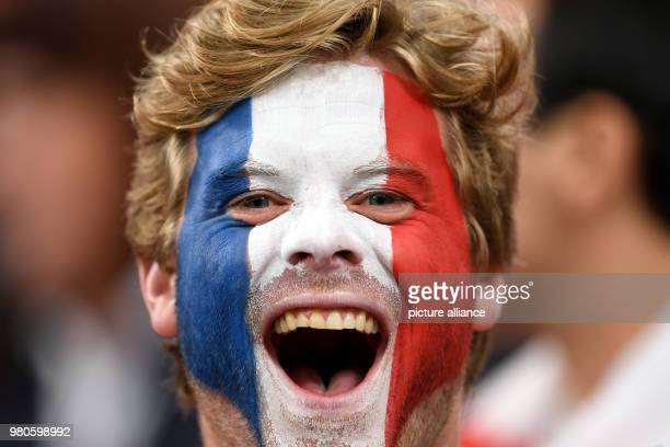 21 June 2018 Russia Yekaterinburg Soccer World Cup 2018 France vs Peru Preliminary round group C Second game day at the Yekaterinburg arena A french...