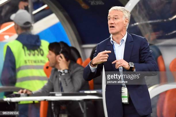 21 June 2018 Russia Yekaterinburg Soccer World Cup 2018 France vs Peru Preliminary round group C Second game day at the Yekaterinburg arena Didier...