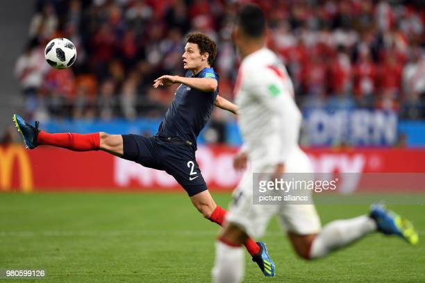 21 June 2018 Russia Yekaterinburg Soccer World Cup 2018 France vs Peru Preliminary round group C Second game day at the Yekaterinburg arena Benjamin...