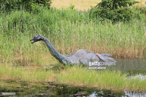 A sculpture of the Loch Ness monster at the Loch Ness Centre in Drumnadrochit Photo Silvia Kusidlo/dpa