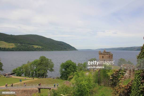 """June 2018, Scotland, Drumnadrochit: Loch Ness, south-west of Inverness, which is the supposed habitat of the monster """"Nessie"""". Photo: Silvia..."""