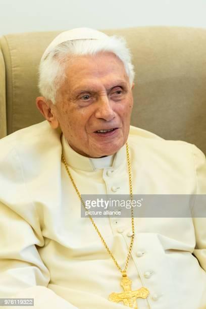 Former Pope Benedict XVI receives Bavarian Minister President Markus Soeder of the Christian Social Union Photo Daniel Karmann/dpa