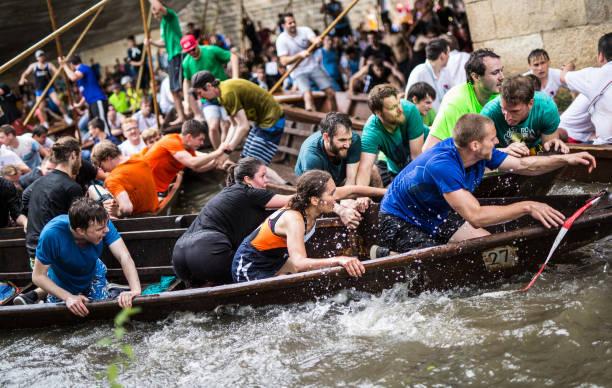 DEU: Stocherkahn Race On The Neckar River