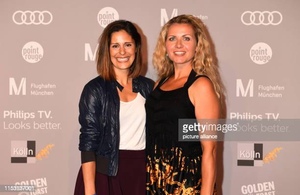 The actresses Funda Vanroy and Jessica Boehrs are standing on the red carpet of the Audi Director's Cut and the industry meeting Movie Meets Media at...