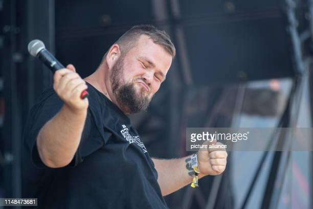 Jan Monchi Gorkow singer of the German punk band Feine Sahne Fischfilet is on stage at the openair festival Rock im Park The music festival runs...