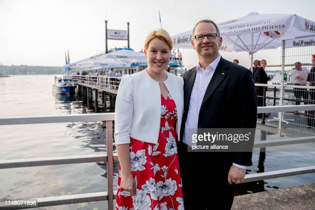Franziska Giffey Federal Minister of Family Affairs and Johannes Kahrs Member of the German Bundestag and Speaker of the Seeheimer Kreis are on the...
