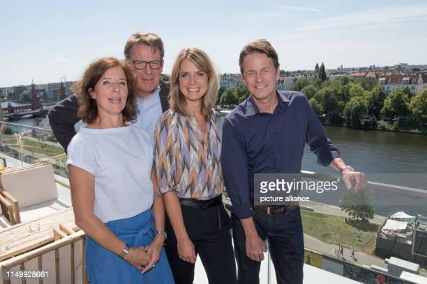 Katrin Günther , Head of Service and Sport, Rundfunk Berlin-Brandenburg, Thomas Fuhrmann, Head of ZDF's main editorial department Sport, and the...