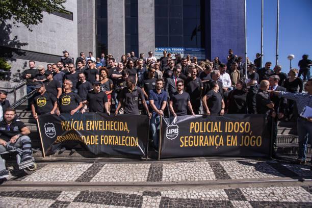 BRA: Police Protest In Sao Paulo