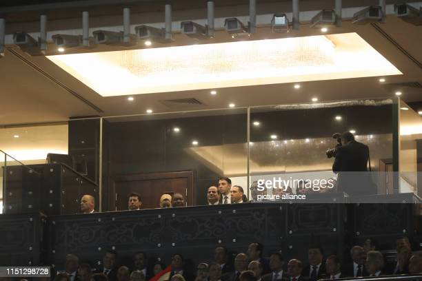 Egyptian President Abdel Fattah elSisi attends the opening ceremony of the 2019 Africa Cup of Nations at the Cairo International Stadium prior to the...