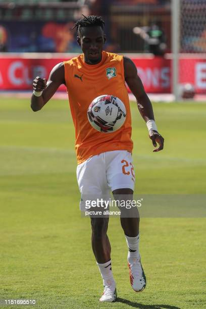 Ivory coast's Mamadou Bagayoko warms up prior to the start of the 2019 Africa Cup of Nations Group D soccer match between South Africa and Ivory...