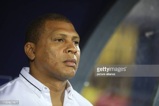 Namibia's manager Ricardo Mannetti is pictured ahead of the 2019 Africa Cup of Nations Group D soccer match between South Africa and Namibia coast at...
