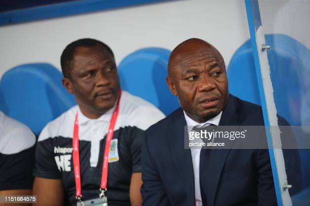 June 2019, Egypt, Cairo: Tanziania coach Emmanuel Amunike is pictured on the sidelines prior to the start of the 2019 Africa Cup of Nations Group C...