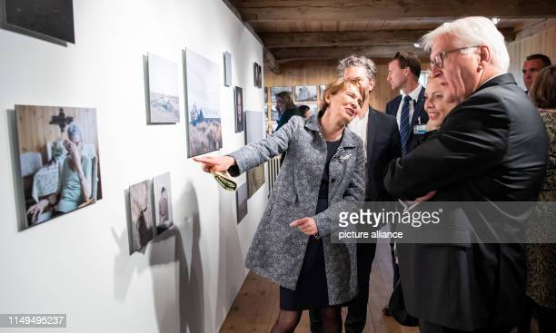 Federal President FrankWalter Steinmeier and his wife Elke Büdenbender visit the openair museum Árbæjarsafn and together with Mayor Reykjaviks Dagur...
