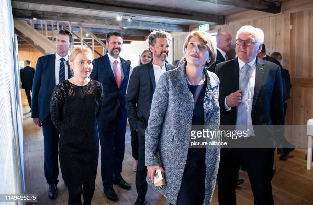 June 2019, Iceland, Reykjavik: Federal President Frank-Walter Steinmeier and his wife Elke Büdenbender visit the open-air museum Árbæjarsafn and are...