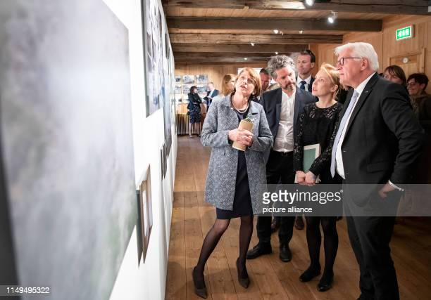 June 2019, Iceland, Reykjavik: Federal President Frank-Walter Steinmeier and his wife Elke Büdenbender visit the open-air museum Árbæjarsafn and,...