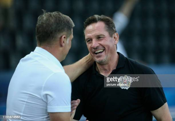 Football U21 Men Germany Austria European Championship preliminary round Group B The coaches Stefan Kuntz from Germany and Werner Gregoritsch from...