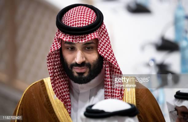 June 2019, Japan, Osaka: Mohammed bin Salman bin Abdelasis al-Saud, Crown Prince of Saudi Arabia, will attend the third working session of the G20...