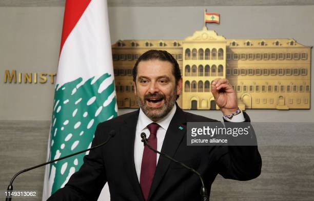 June 2019, Lebanon, Beirut: Lebanese Prime Minister Saad Hariri, speaks during a press conference, at the Government Palace. Photo: Marwan Naamani/dpa