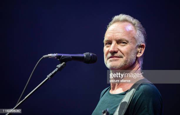 """June 2019, Lower Saxony, Hanover: The singer Sting sings """"My Songs"""" at the Expo Plaza at the beginning of his German tour. Photo: Christophe..."""