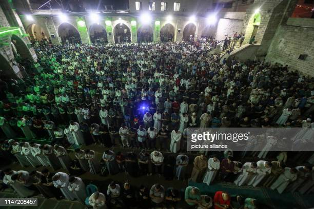 01 June 2019 Palestinian Territories Gaza Palestinian Muslims pray on the occasion of 'Laylat alQadr' or the Night of Decree on the 27th day of the...