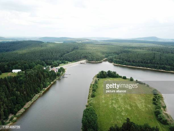 The Heyda dam dam dams the Wipfra near Ilmenau in southern Thuringia The dam was built between 1980 and 1988 and was put into operation in 1989 for...