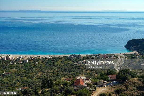 June 2020, Albania, Himarë: View of Livadh Beach near Himara at the Ionian Sea in the south of Albania. Photo: Peter Endig/dpa-Zentralbild/ZB