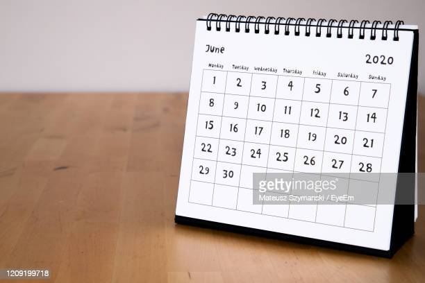 june 2020 calendar - month page - june stock pictures, royalty-free photos & images