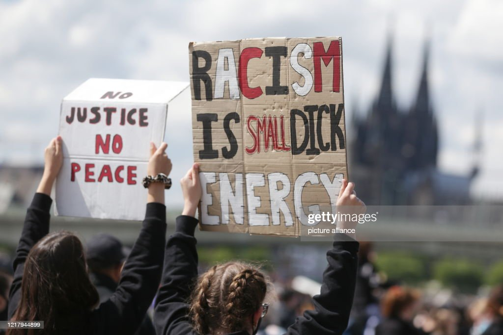 Demonstration against racism - Cologne : News Photo
