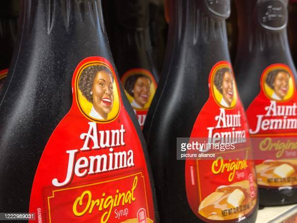 Syrup bottles from Aunt Jemima are in a supermarket US food giant Pepsi is giving its 130yearold Aunt Jemima brand a new look The mascot so far a...