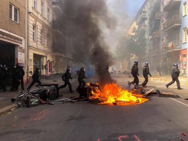 DEU: Barricade On Riga Street In Berlin
