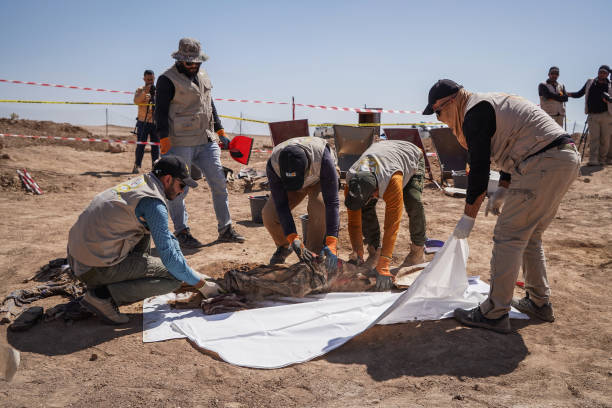 IRQ: IS Victims Exhumed From Mass Grave In Iraq
