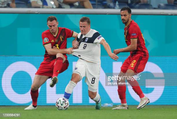 June 2021, Russia, St. Petersburg: Football: European Championship, Finland - Belgium, preliminary round, Group B, matchday 3 at St. Petersburg...