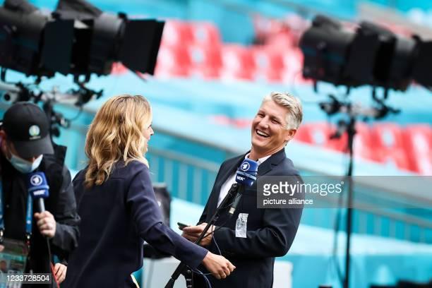 June 2021, United Kingdom, London: Football: European Championship, England - Germany, Final Round, Round of 16 at Wembley Stadium. Jessy Wellmer ,...