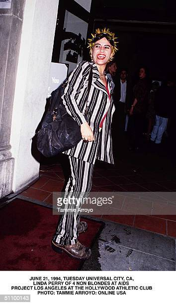 June 22 1994 Hollywood Ca Linda Perry From 4 Non Blondes Attending A Party For Aids Project Los Angeles At The Hollywood Athletic Club Where The...