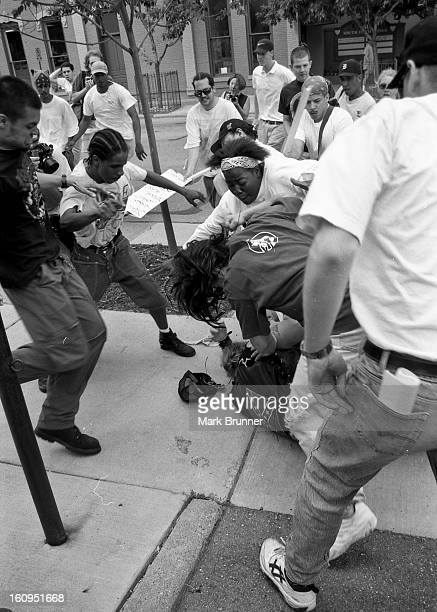 June 22, 1996. A dozen members of a self-anointed and unwelcome KKK group came to Ann Arbor to hold a thumb-in-your-eye rally at City Hall. A protest...