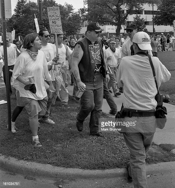 CONTENT] June 22 1996 A dozen members of a selfanointed and unwelcome KKK group came to Ann Arbor to hold a thumbinyoureye rally at City Hall A...