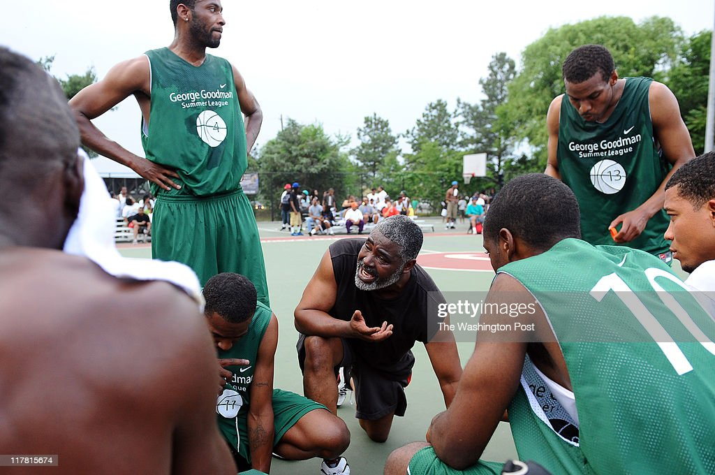 Funk House Coach Bryant Wilson talks with his squad during a    News