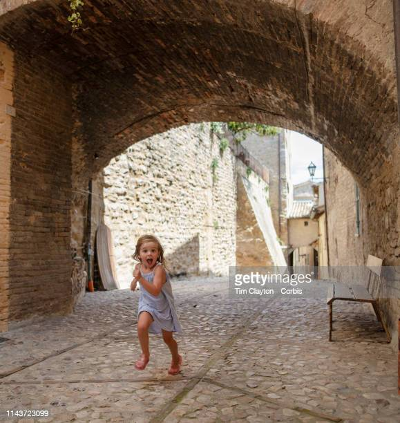 June 23: A street scene in Montefalco, Italy. Montefalco is a town in the central part of the Italian province of Perugia, on an outcrop of the Colli...