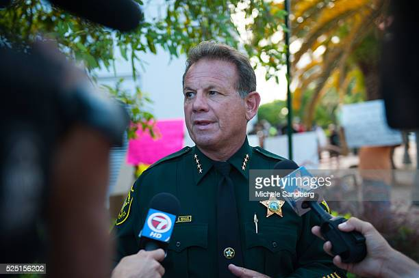 June 23 Broward County Sheriff Scott Israel Local activitists in Fort Lauderdale Florida lead a rally to commemorate the lives of the nine black...