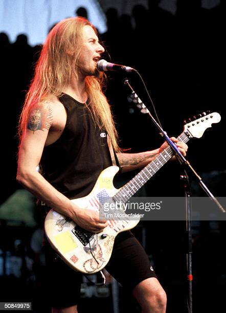 VIEW CA June 23 Jerry Cantrell of Alice in Chains performing at Lollapalooza 1993 at Shoreline Amphitheater Event held on June 23 1993 in Mountain...