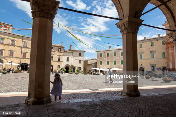 June 23: The town Square in Montefalco, Italy. Montefalco is a town in the central part of the Italian province of Perugia, on an outcrop of the...
