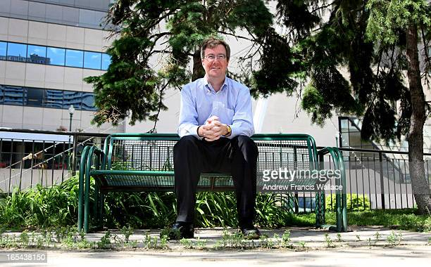 June 24 2008 Jim Watson the Ontario Liberal cabinet Minister of Municipal Affairs and Housing sits outside his office buliding at the 777 Bay Street...