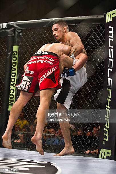 Caros Fodor right squared off in the cage against James Terry during the STRIKEFORCE Challengers at the ShoWare Center in Kent Washington Fodor a...