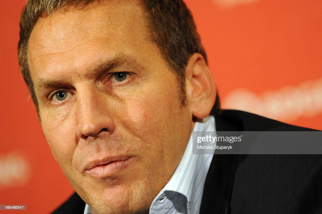 June 25, 2008 Raptors GM Bryan Colangelo at Air Canada Centre having a pre draft press conference. T : News Photo