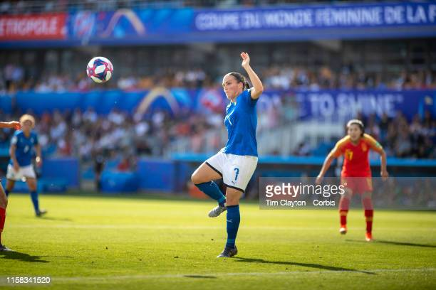 June 25 Alia Guagni of Italy in action during the Italy V China round of sixteen match at the FIFA Women's World Cup at Stade De La Mosson on June...